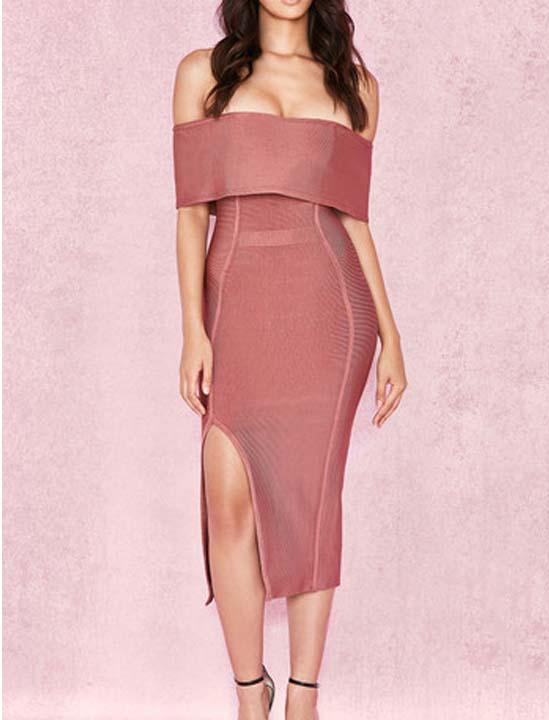 Autumn off-shoulder Bandage Dress Lovefreya.co