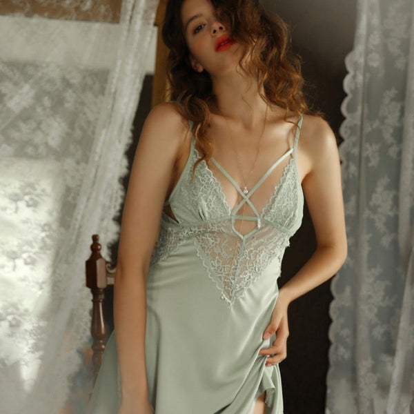 Bella satin slip Intimates LOVEFREYA S Mint
