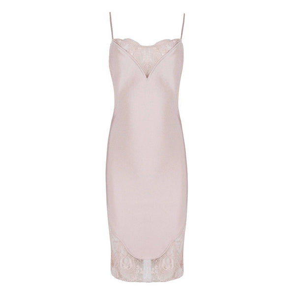 Bree lace bandage Dress Lovefreya.co XS Pink