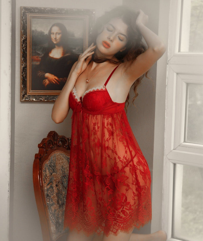 Brenda lace slip set Intimates LOVEFREYA