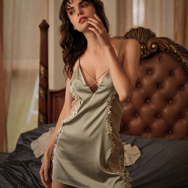 Cabrita satin slip Intimates LOVEFREYA S Green