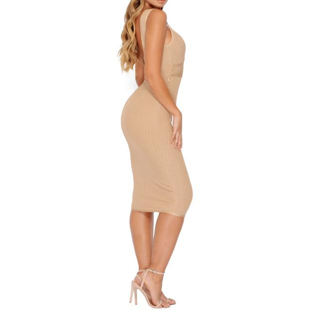 Camelia nude Bandage Dress Lovefreya.co