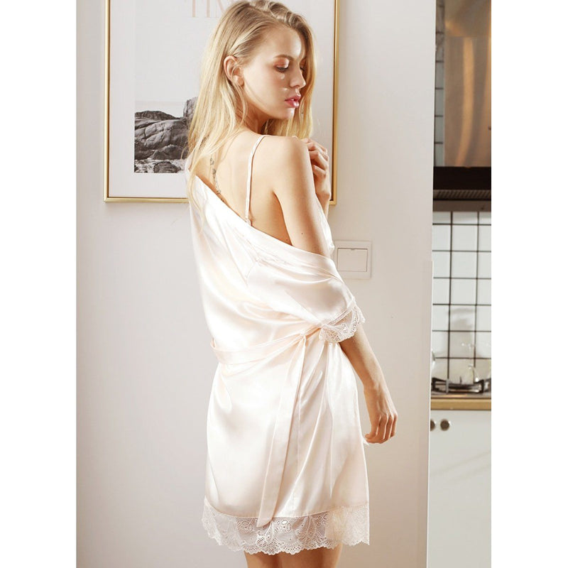 Camilla silk robe Intimates LOVEFREYA