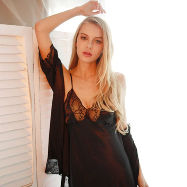 Camilla silk slip Intimates Lovefreya.co S Black