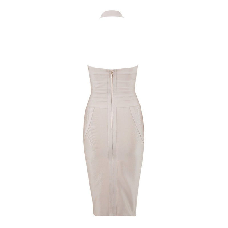 Cass halter bandage Dress Lovefreya.co