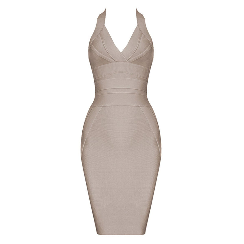 Cass halter bandage Dress Lovefreya.co XS Nude