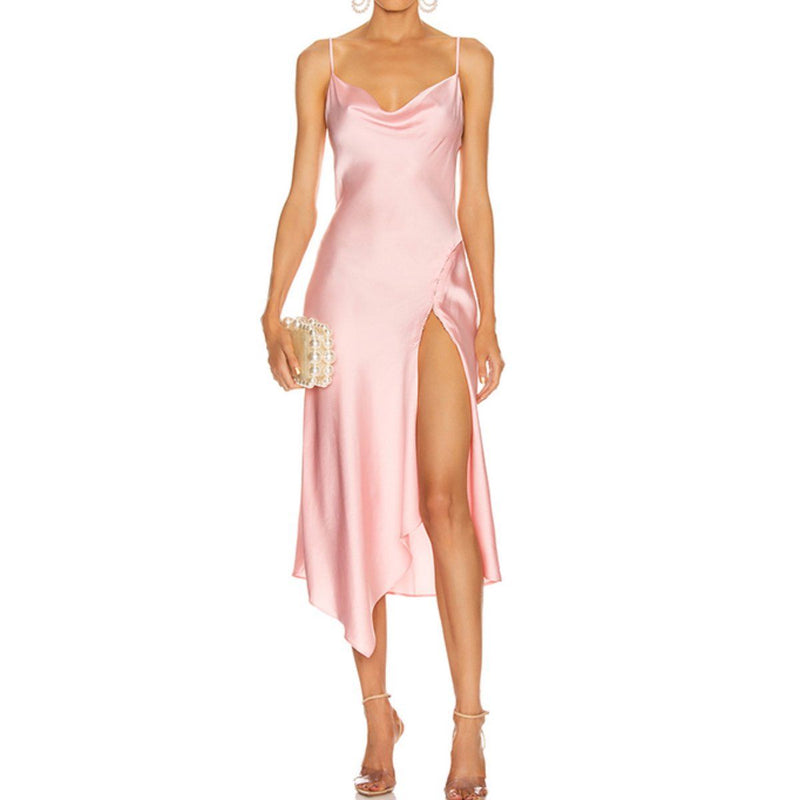 Chantelle satin dress Dress Lovefreya Pte Ltd
