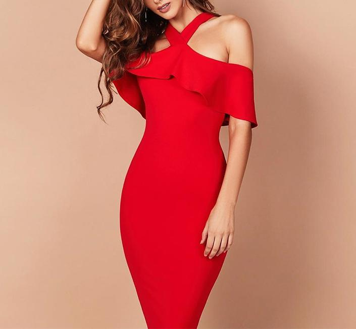 Charlotte off shoulder bandage Dress Lovefreya.co
