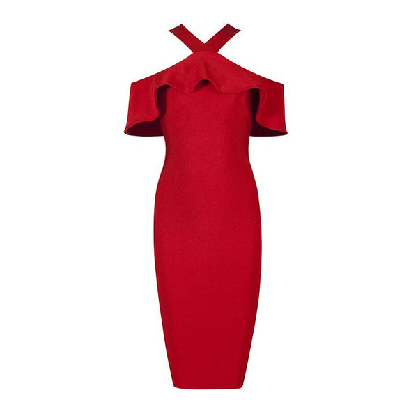 Charlotte off shoulder bandage Dress Lovefreya.co XS Red