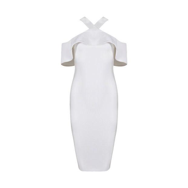 Charlotte off shoulder bandage Dress Lovefreya.co XS White
