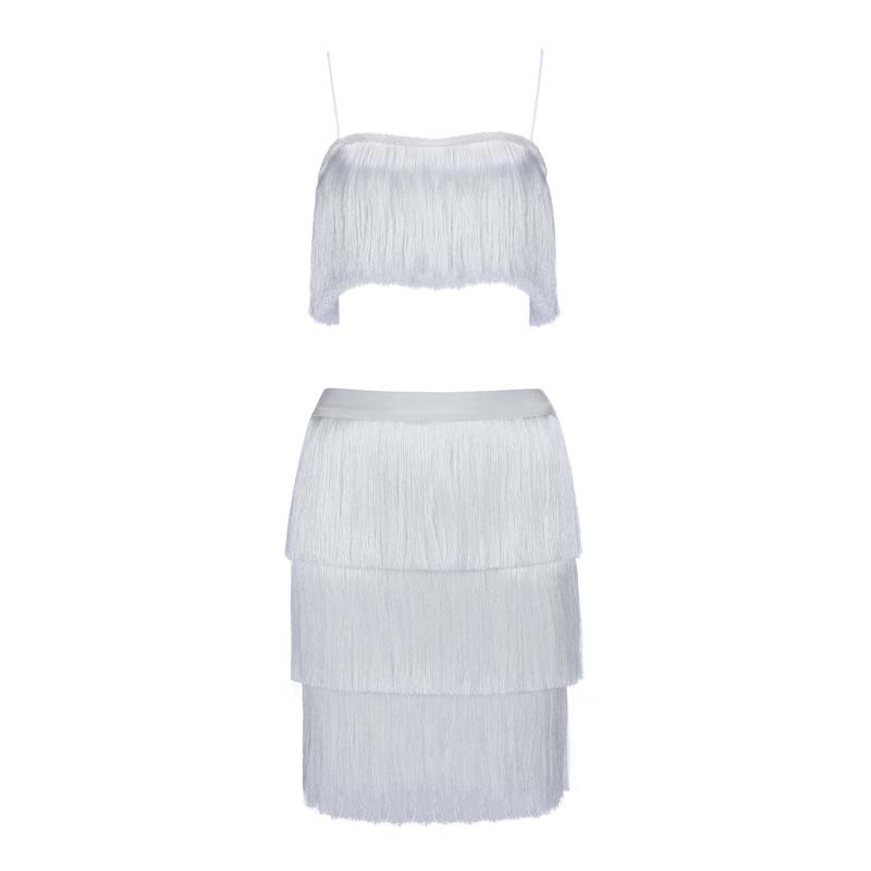 Cheeky fringe dress Dress Lovefreya.co XS White