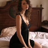 Ciara slip set Intimates Lovefreya Pte Ltd Black