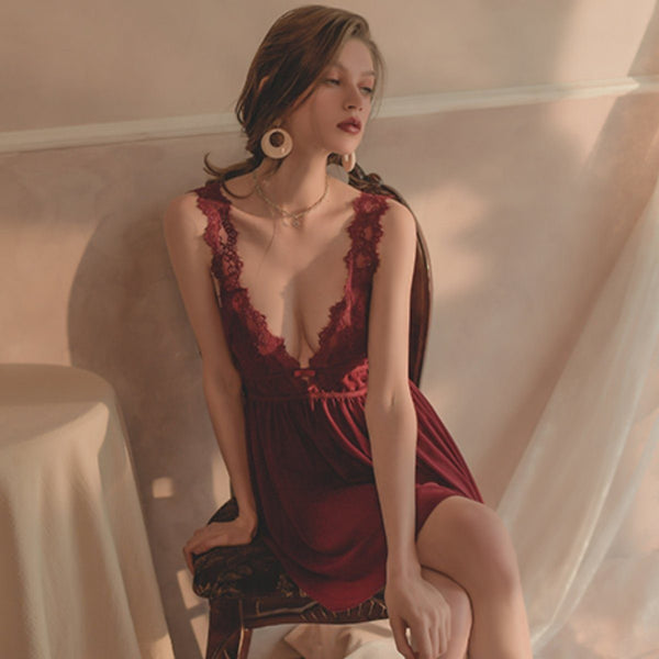 Ciara slip set Intimates Lovefreya Pte Ltd Wine Free size