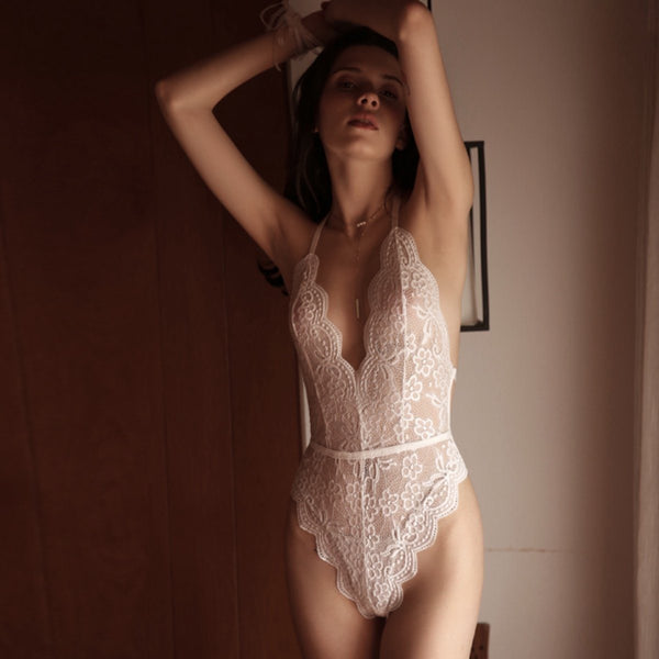 Clea teddysuit Intimates Lovefreya Pte Ltd S White