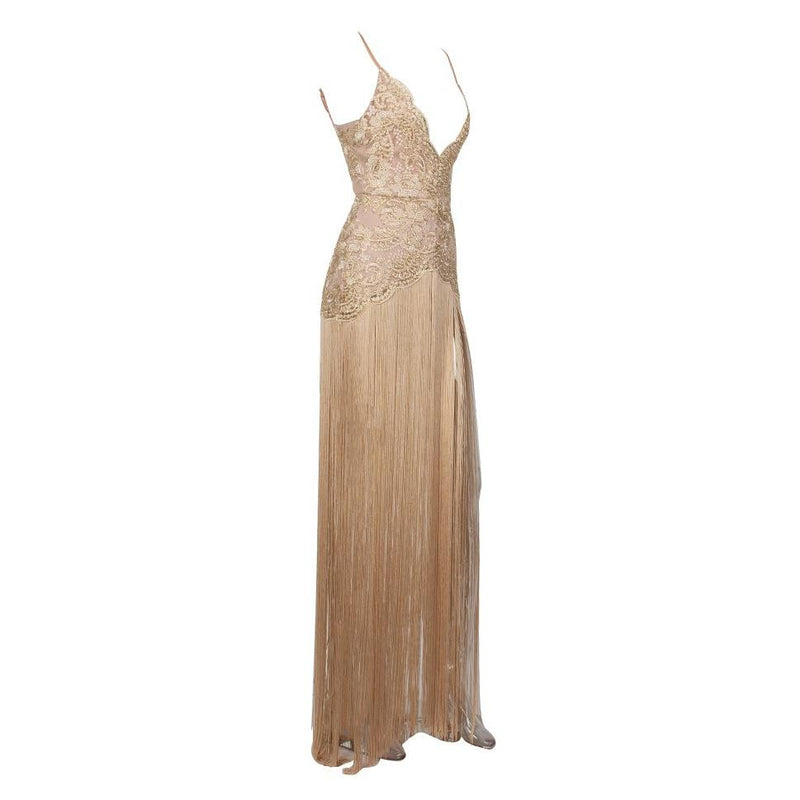 Cleopatra fringe gown Dress Lovefreya.co