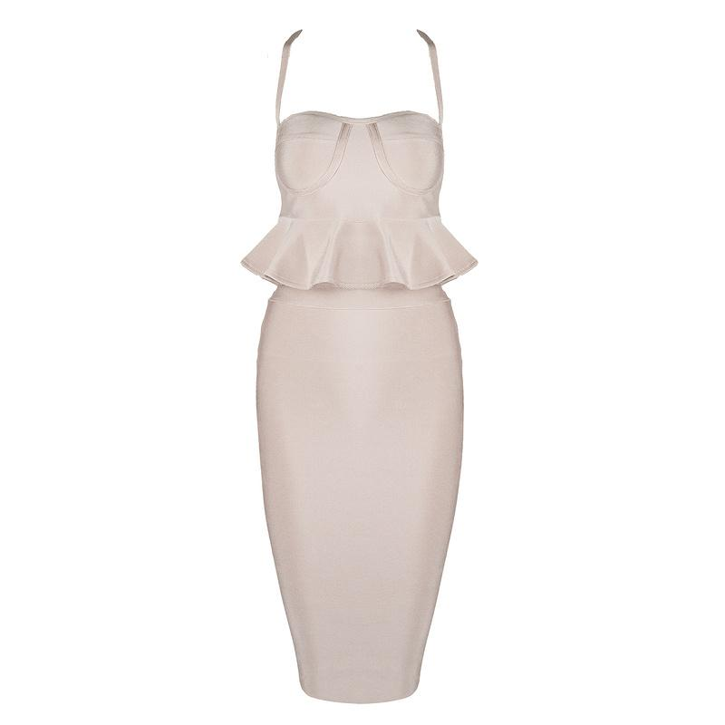 Colette 2 piece bandage Dress Lovefreya.co XS Nude