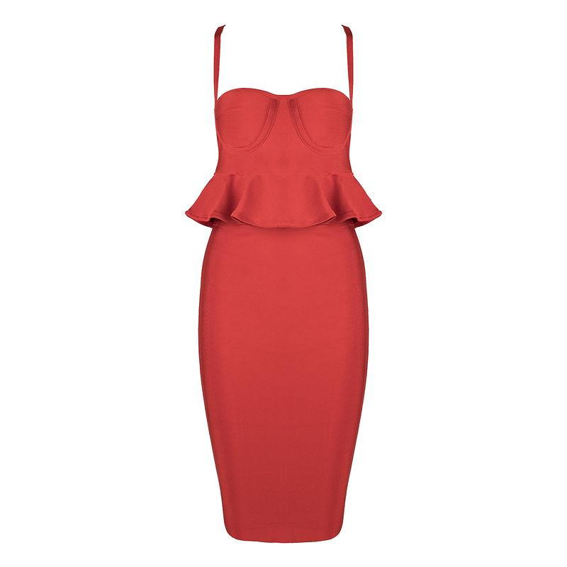 Colette 2 piece bandage Dress Lovefreya.co XS Red