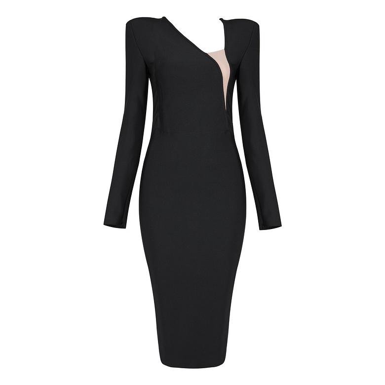Edgy 3/4 Bandage Dress lovefreya.co