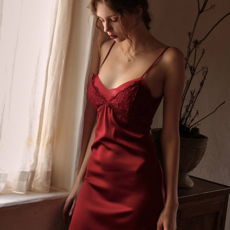 Eliana satin slip Intimates LOVEFREYA S Wine