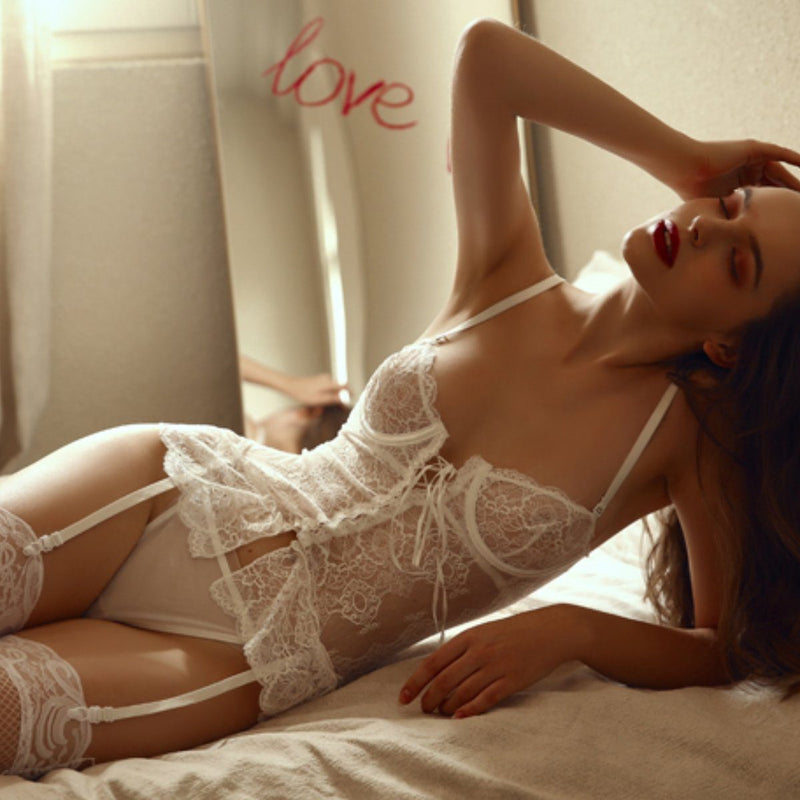 Emmeline bustier set Intimates Lovefreya Pte Ltd