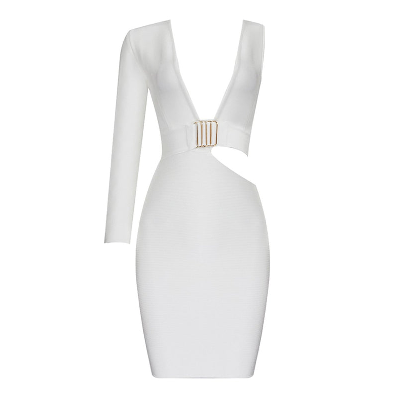 Emy one sleeve bandage Dress Lovefreya.co
