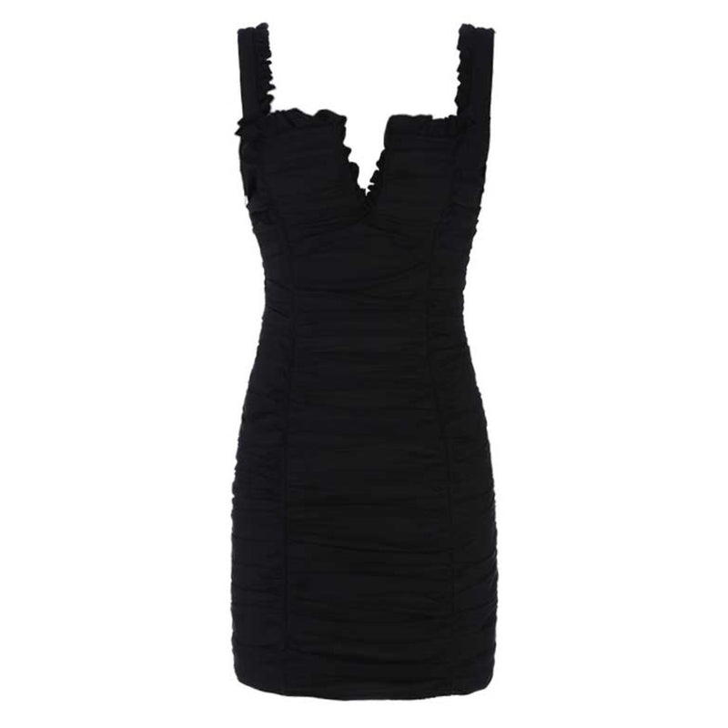 Fallon ruched dress Dress Lovefreya Pte Ltd XS Black
