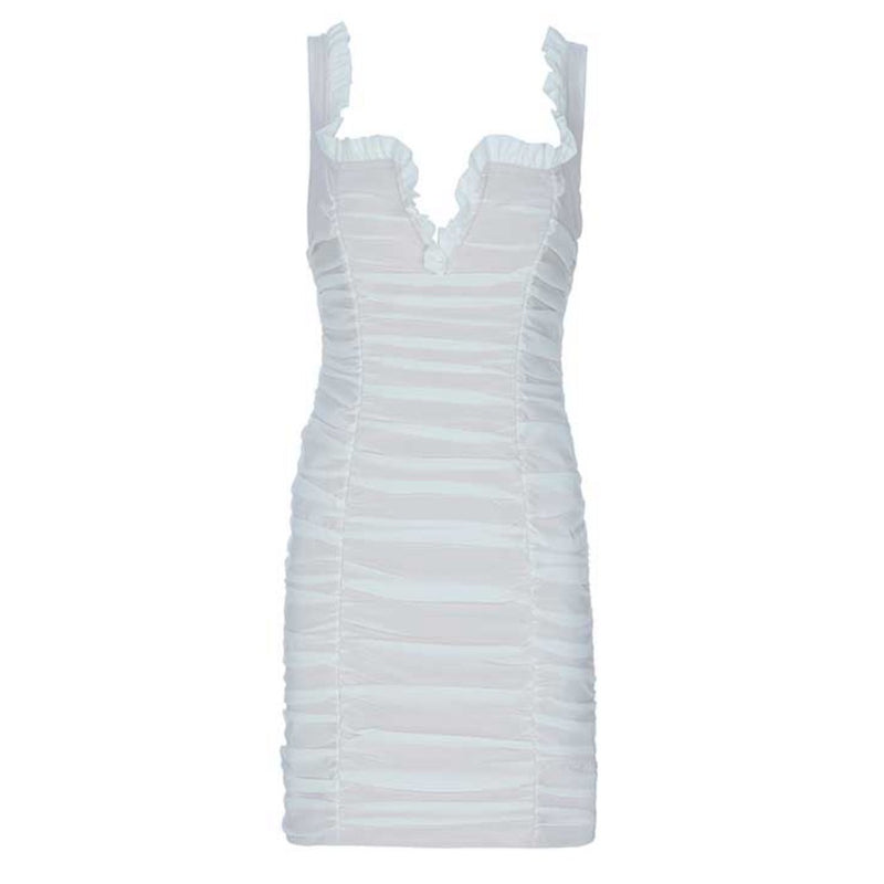 Fallon ruched dress Dress Lovefreya Pte Ltd XS White