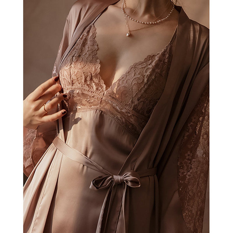 Fauna satin robe Intimates LOVEFREYA