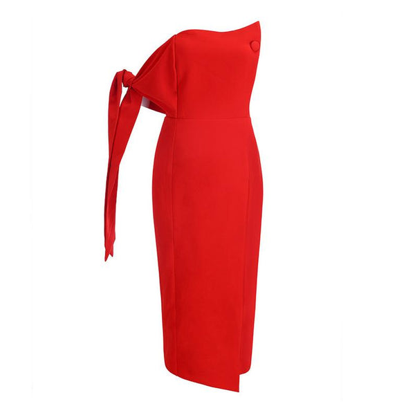Gerbera mid length tube Dress Lovefreya.co XS Red