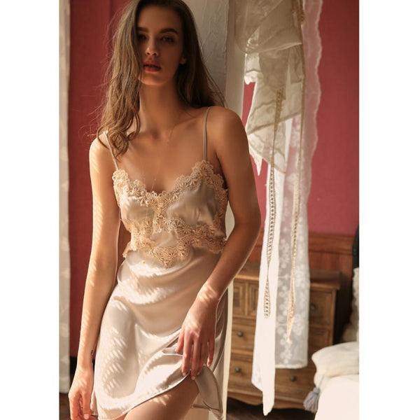 Gracelyn satin slip Intimates Lovefreya Pte Ltd S Grey