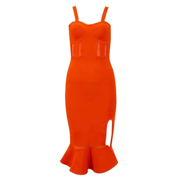 Helenium fishtail bandage Dress Lovefreya Pte Ltd