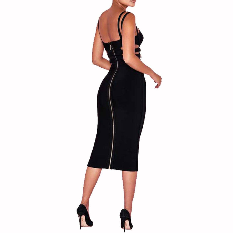 Hun buckle bandage Dress Lovefreya.co