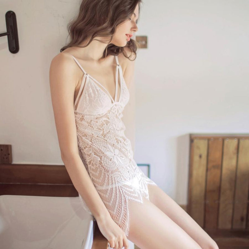 Isa lace slip set Intimates Lovefreya Pte Ltd