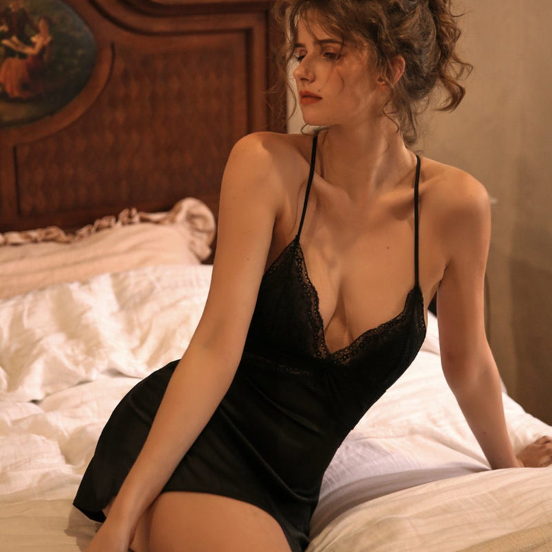 Jezebel satin slip Intimates Lovefreya Pte Ltd S Black