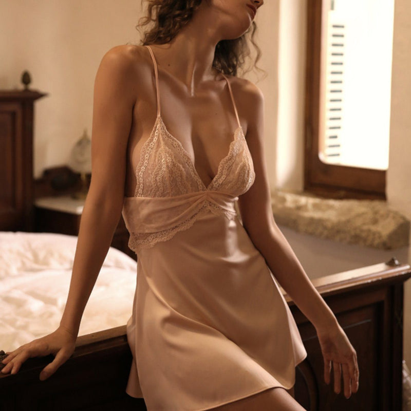 Jezebel satin slip Intimates Lovefreya Pte Ltd S Pink