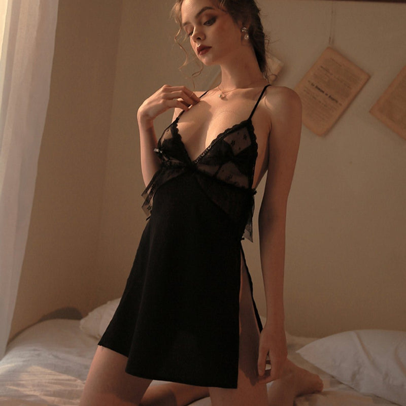 Jodine satin slip Intimates LOVEFREYA S Black