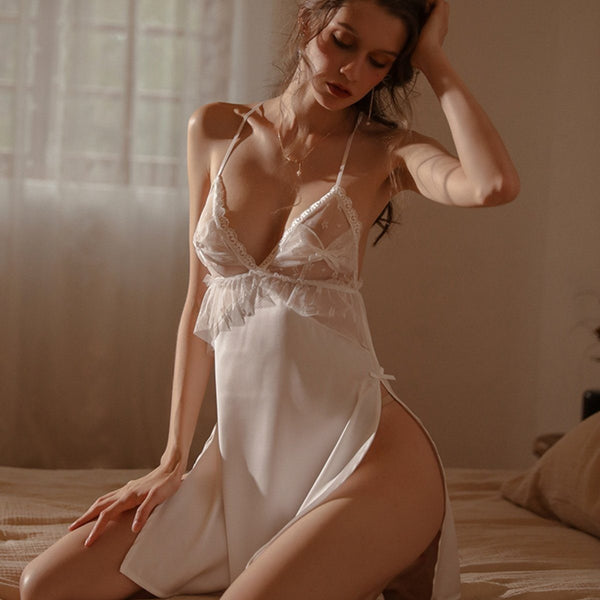 Jodine satin slip Intimates LOVEFREYA S White