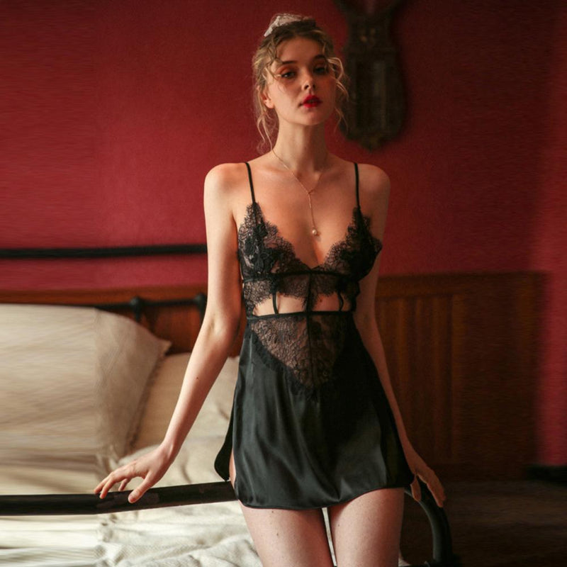 Julitta satin slip set Intimates Lovefreya Pte Ltd