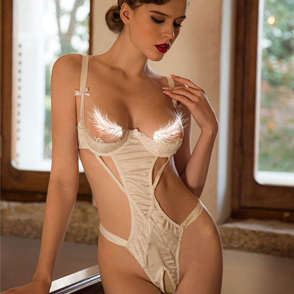 Kelsie cut-out teddysuit Intimates LOVEFREYA White