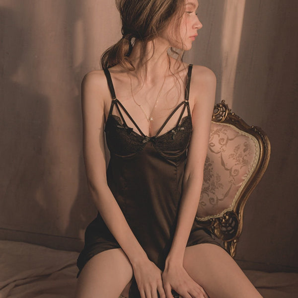 Kessler satin slip Intimates LOVEFREYA S Black