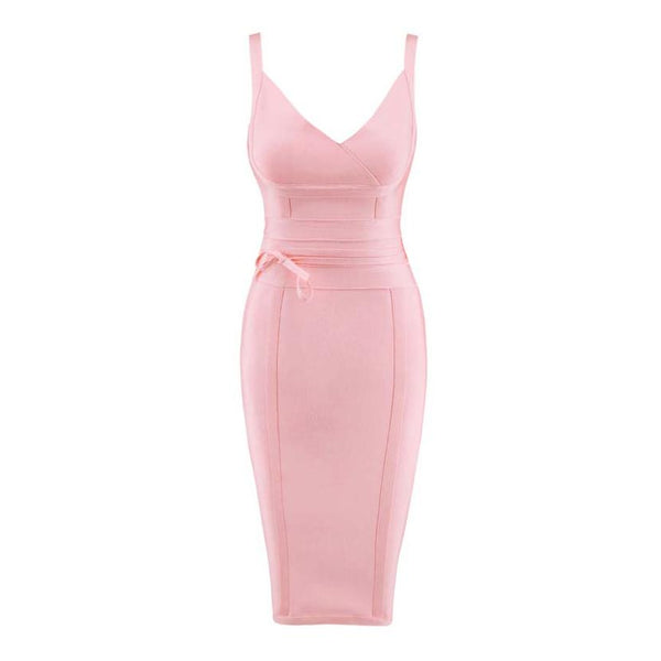 Kimmy Bandage Dress Dress Lovefreya.co XS Pink