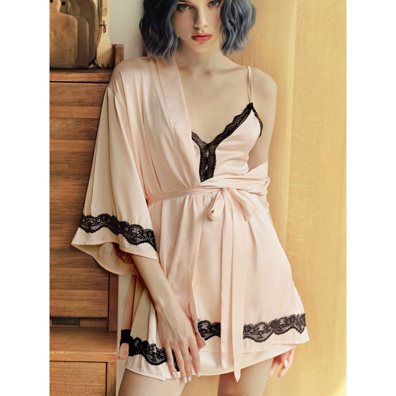 Kraimbrery satin slip and robe Intimates LOVEFREYA