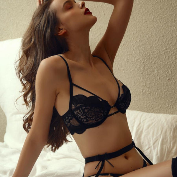 Lahana lingerie set Intimates Lovefreya Pte Ltd Black