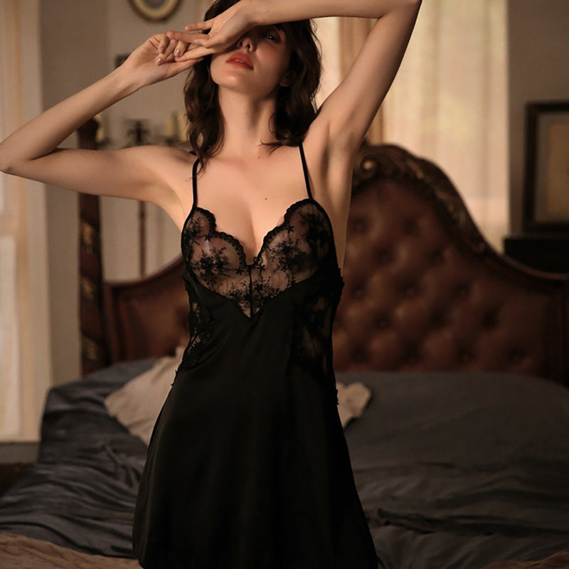 Lana satin slip Intimates LOVEFREYA S Black