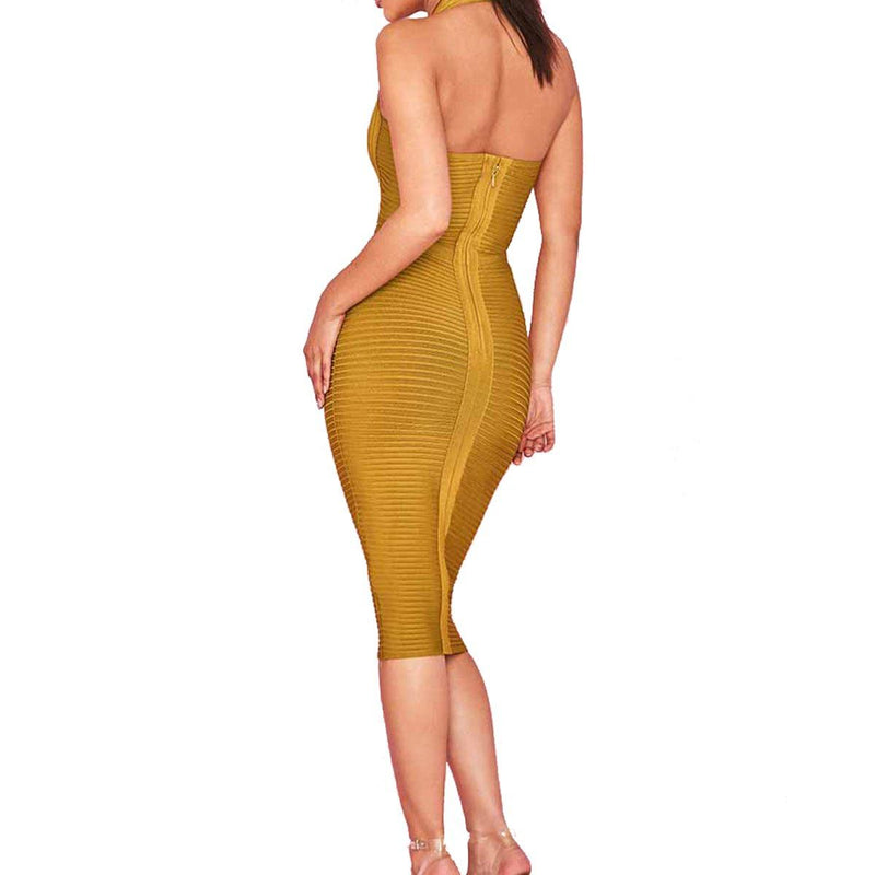 Lenny halter bandage Dress Lovefreya.co