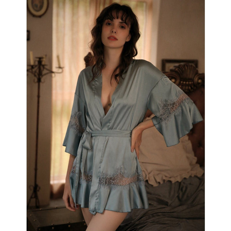 Leonida cami set Intimates LOVEFREYA Robe only (Free size) Blue