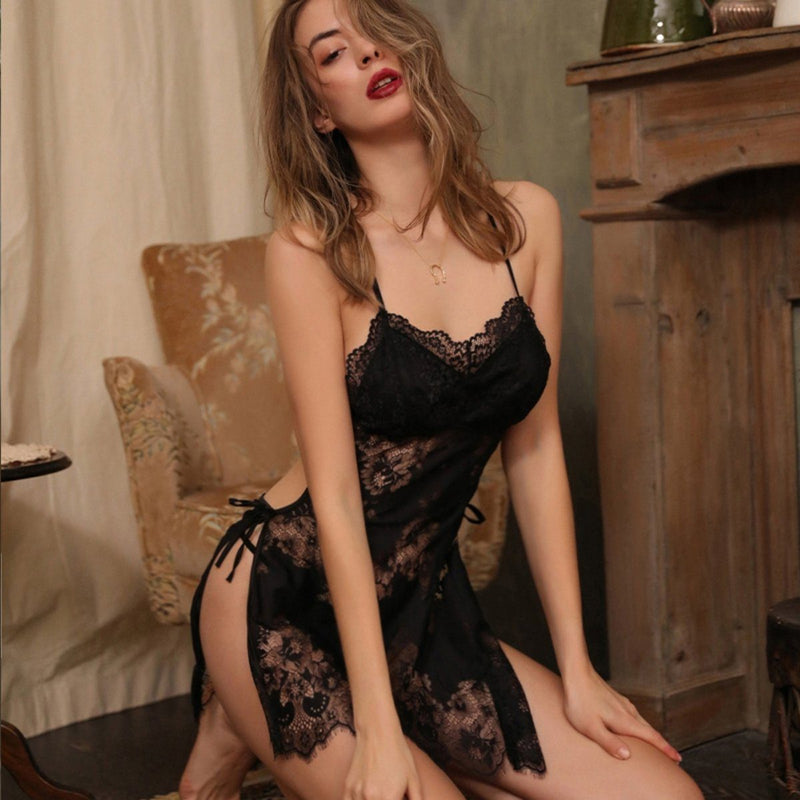 Levey lace slip Intimates LOVEFREYA FS Black