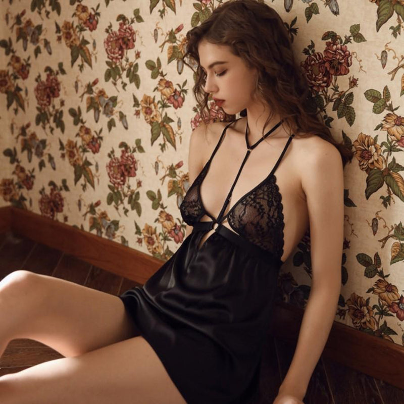 Marcella satin slip Intimates Lovefreya Pte Ltd S Black