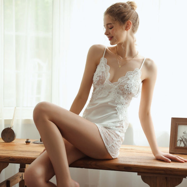 Nanette lace and satin slip Intimates LOVEFREYA S White