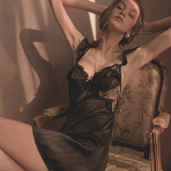 Olivia satin slip Intimates LOVEFREYA S Black